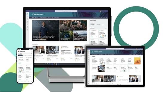 Het dashboard van Connections laat je kennis maken met relevante nieuwsartikels, chat en andere tools.